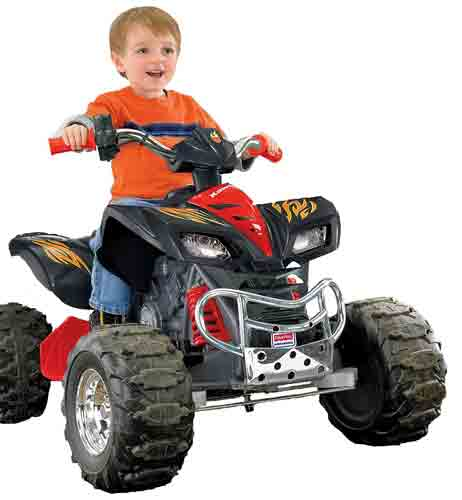 #4. Power Wheels Hot Wheels Kawasaki KFX