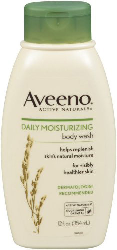 #7. Aveeno Daily Moisturizing Body Wash, 12 Ounce (Pack of 3)