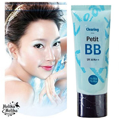 #1. Holika Holika Pore Clearing Petit BB Cream with Tea Tree Oil and Sebum Control Powder 30ML
