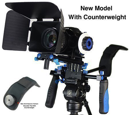 #4. Fancierstudio DSLR RIG With Follow Focus Matte Box And Counterweight By New Model Fancierstudio FL02M