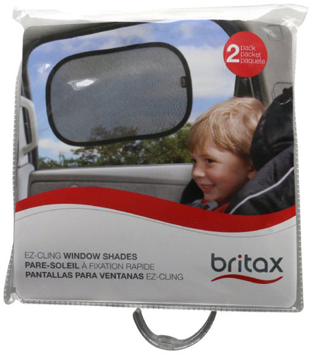 #3.Britax-EZ Cling Sun Shades, Black, 2 Count