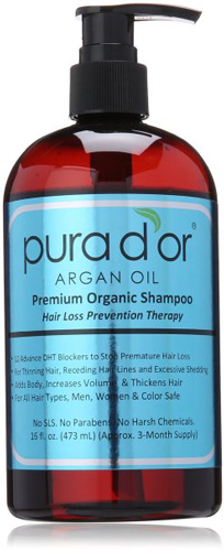 #1. Pura d'or Hair Loss Prevention Premium Organic Shampoo, Top 10 Best Hair Growth Shampoo For Women in 2020 Reviews