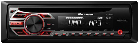 #3. Pioneer DEH-150MP Single DIN Car Stereo With MP3 Playback