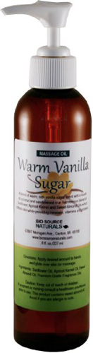 #7. Warmth vanilla sugar body oil for massaging in 8 ounce with pump