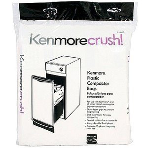 #3.60ct Plastic Trash Compactor Bags for KENMORE, GE, FRIGIDAIRE, WHIRLPOOL, MAYTAG And All Other 15-Inch Rectangular Drawer Compactors