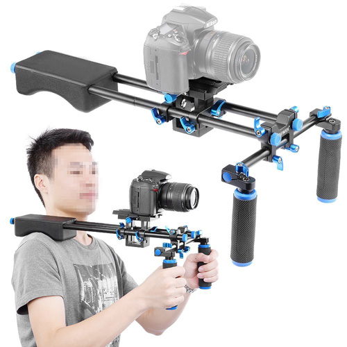 #6. Neewer Portable FilmMaker System With Camera/Camcorder Mount Slider, Soft Rubber Shoulder Pad and Dual-hand Handgrip For All DSLR Video Cameras and DV Camcorders