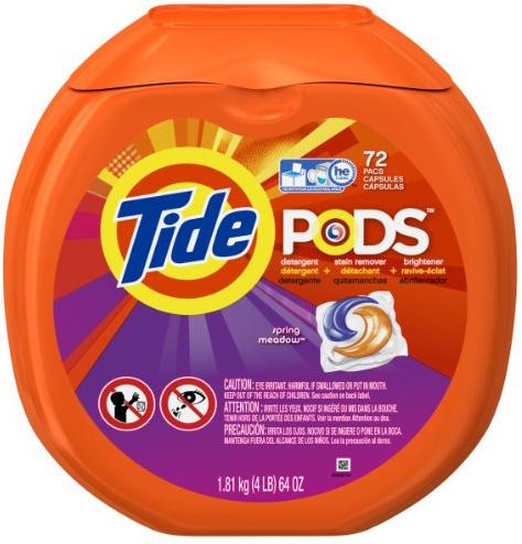 dishwashing pods in washing machine