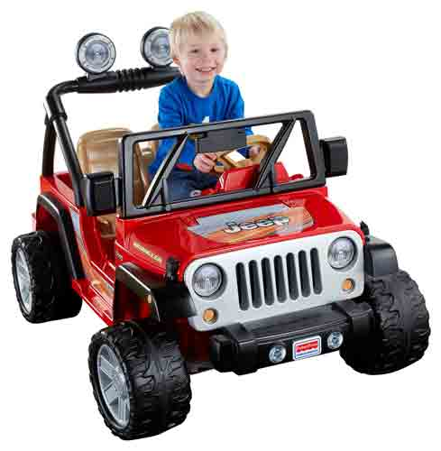 #6. Power Wheels Jeep Wrangler - Lava Red & Black