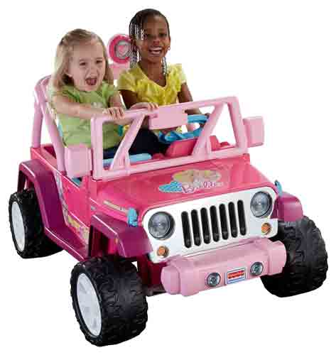 #7. Power Wheels Barbie Jammin Jeep Wrangler