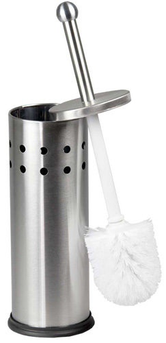 #7. Home Basics Vented Stainless Steel Toilet Brush
