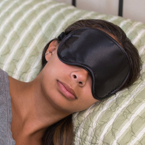 #4. Super Silky Super-Soft Sleep Mask With Free Ear Plugs and Carry Case By 40 Winks.