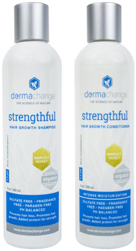 #6. DermaChange Organic Shampoo and Conditioner