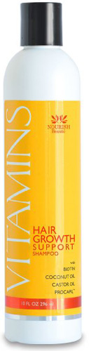 #7. Vitamins Nourish Beauté Hair Growth Support Shampoo