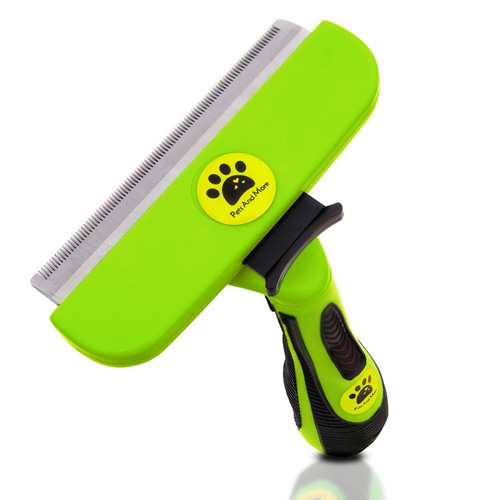 #7. Pet Grooming Deshedding Tool for Large / Medium Dog and Cat ,Stainless Steel, Fur Release Button the Best Deshedder Brush Guaranteed