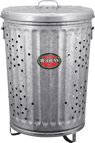 #1. Behrens Manufacturing RB20 Galvanized Steel Rubbish Burner/ Composter, 20 gal