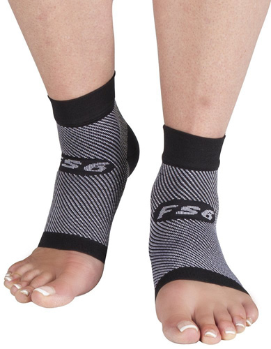 #10.OrthoSleeve FS6 Compression Foot Sleeve Pair
