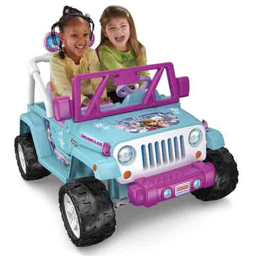 #1. Power Wheels Disney Frozen Jeep Wrangler