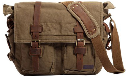 Military Men Canvas Messenger Bag