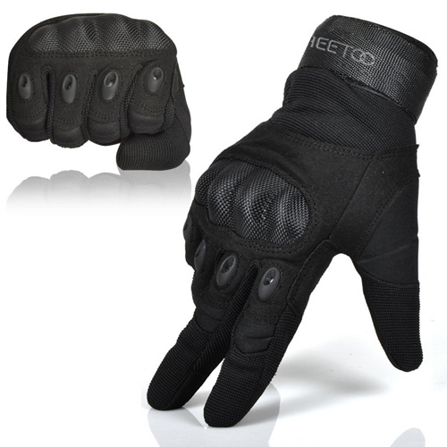 #7.Freetoo Men's Hard Knuckle Full Finger Military Gear Tactical Gloves