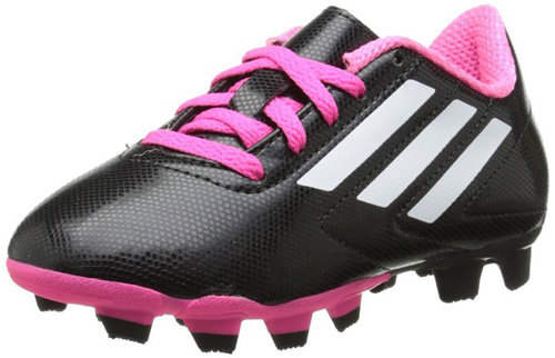 #1. Adidas Performance Conquisto Firm-Ground J Soccer Cleat