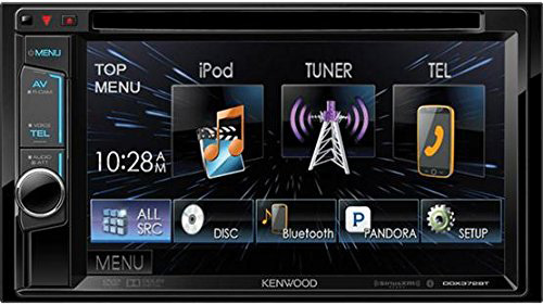 #8. Kenwood DDX372BT Double DIN Bluetooth In-Dash DVD/AM/FM Receiver