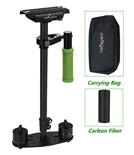 #8. IMORDEN S-60C Carbon Handheld Camera Stabilizer for Canon, Sony, Panasonic Dslr Camera(2~6lbs) and Video Cameras with Quick Release