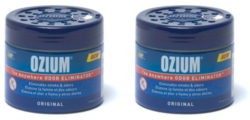 #5.Ozium Smoke& Odors Eliminator Gel. Home, Office and Car Air Freshener 4.5oz(127g), Original Scent(Pack of 2)