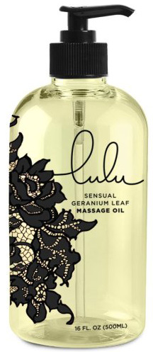 #2. Lulu sensual massage oil in 16 ounce container for massaging the body with sweet almond oil