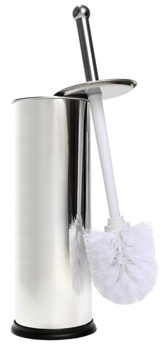 #9. Home Intuition Chrome Toilet Brush