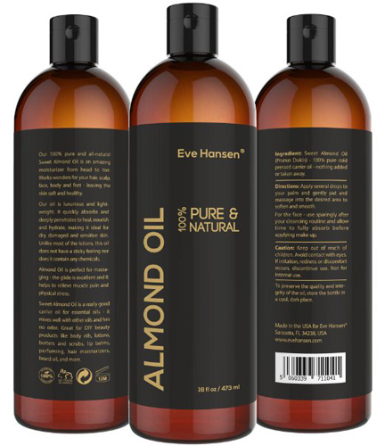 #10. 16 ounce sweet almond oil that is 100% pure and natural moisturizer