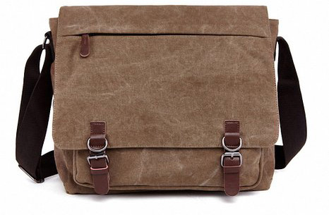 #8. Vintage Canvas Laptop Messenger Bag