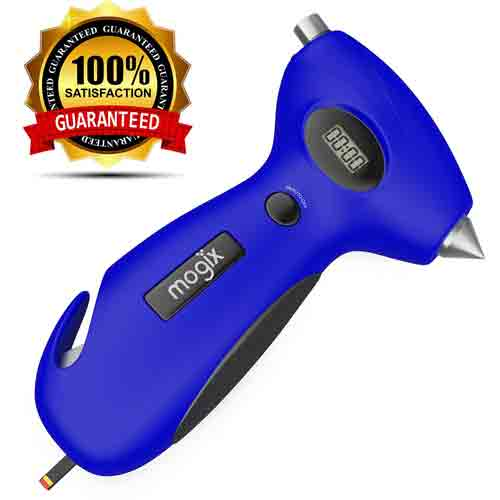 #4. Mogix Tire Pressure Gauge with Best Auto Rescue Tool Features