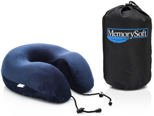 #9. Luxury Travel Neck Pillow by MemorySoft