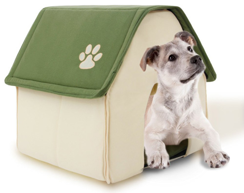 #10. PAWZ Road Dog House For Medium and Small Pets Color Green& Red Roof