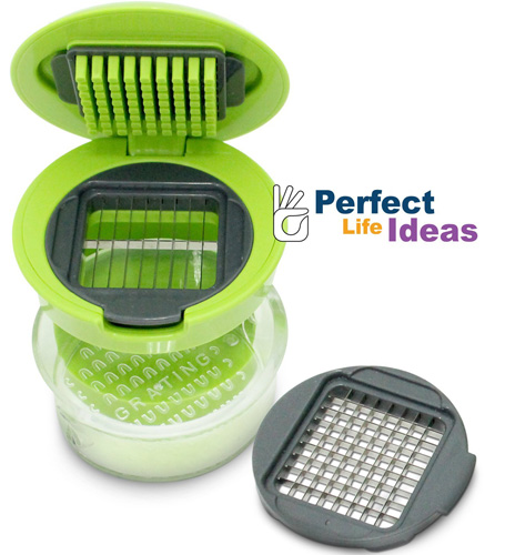 #9. Perfect Life Ideas Garlic Press Mini Chopper Garlic Mincer