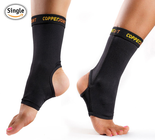 #4.CopperJoint Compression Ankle Brace,# 1 Plantar Fasciitis Sleeve, Copper Infused Support-GUARANTEED Recovery Sock- Wear Anywhere-Single Sock