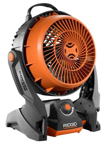 #9. Ridgid Hybrid Cordless & Corded Fan