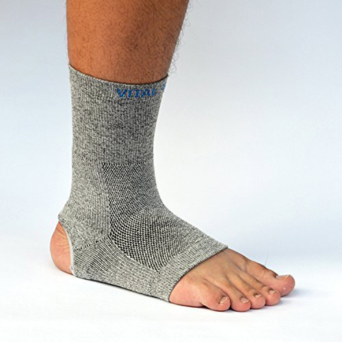 #3.Vital Silver-Germanium+Bamboo Charcoal Ankle Sleeve/Brace(1PC)-Opening)-Large)