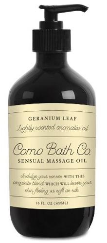 15. Como Bath Co. Sensual Massage Oil 16oz