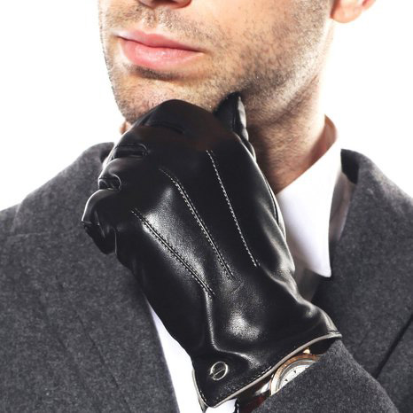 #6.Luxury Men's Winter Italian Nappa Leather Dress Driving Gloves by Elma