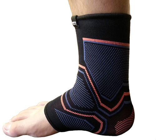 #5.Kunto Fitness Ankle Brace Compression Support Sleeve for Athletics, Injury Recovery, Joint Pain and More!
