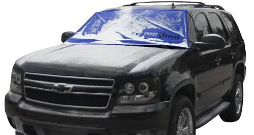 #2.FrostGuard Premium Winter Windshield Cover, Blue (XL)