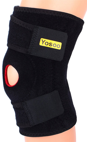 #7. Yosoo Adjustable Neoprene Knee Support Brace with Basic Open Patella Stabilizer Kneecap Support and Lateral Stabilizers for Workout