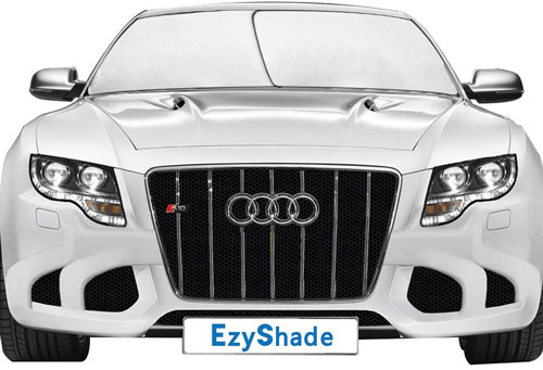 #6.Ezyshade Car Windshield Sunshade+ FREE Bonus Gift. Universal Fit, Hassle Free Car Sun Shade Keeps Your Vehicle Cool. High quality Heat and Sun Reflector. 1 Year Risk -Free 100% Money Back Guarantee