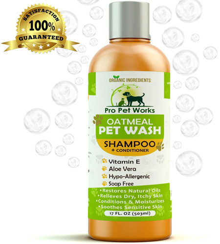 #9. Pro Pet Works Hypoallergenic 100% Natural Oatmeal Pet Shampoo/Conditioner