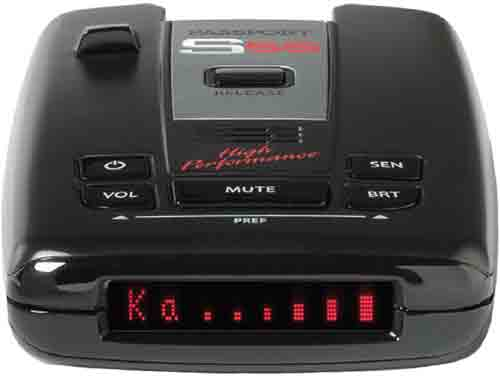 #8. Escort Passport S55 High Performance Pro Radar and Laser Detector with DSP (High-Intensity Red Display)