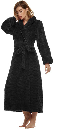 #9. Ekouaer Women's Super Plush Microfiber Fleece Bathrobe