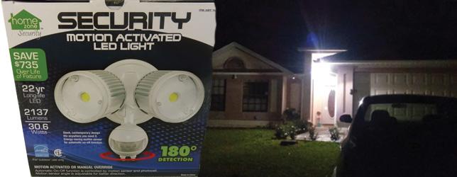 LED Outdoor Security Floodlight with Dusk to Dawn Light Sensor