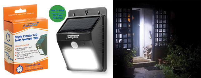 Swiftly Done Bright Solar Outdoor Led Light