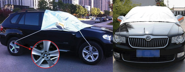 The Exlight Trading Polyester Car Snow Cover, best windshield ice and snow covers for cars